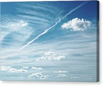 Forecast ...breezy Canvas Print by Tom Druin