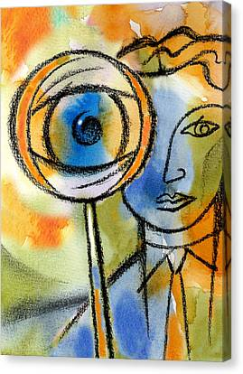 Forecasting And Projecting Canvas Print by Leon Zernitsky