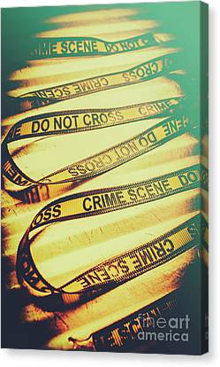 Forensic Csi Lab Details Canvas Print