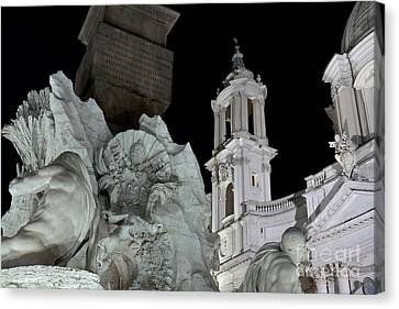 Foreshortening Of Piazza Navona Canvas Print by Fabrizio Ruggeri
