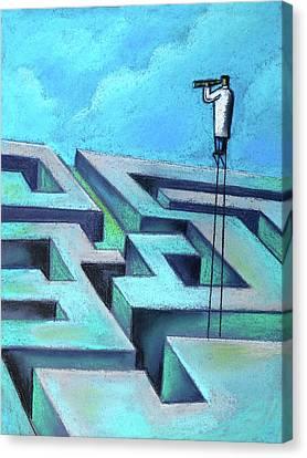 Foresight Canvas Print by Leon Zernitsky