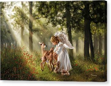 Forest Angel Canvas Print