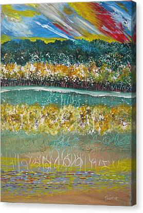 Forest At The Lale Canvas Print by Sima Amid Wewetzer
