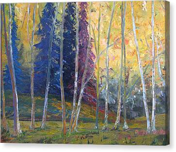 Forest At Twilight Canvas Print by Belinda Consten