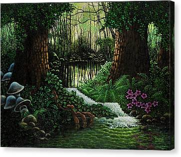 Canvas Print featuring the painting Forest Brook by Michael Frank