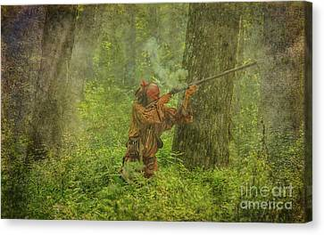 Canvas Print featuring the digital art Forest Clash by Randy Steele