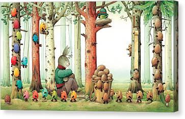 Forest Eggs Canvas Print by Kestutis Kasparavicius