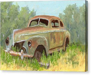 Rusted Cars Canvas Print - Forest Find by David King