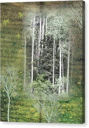 Forest For The Trees Canvas Print by Nadine Berg