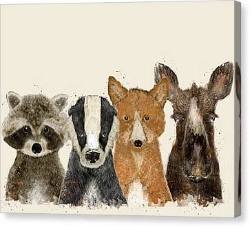 Forest Friends Canvas Print by Bri B
