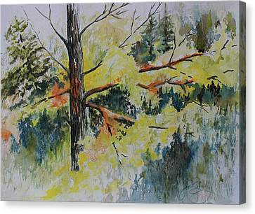 Canvas Print featuring the painting Forest Giant by Joanne Smoley