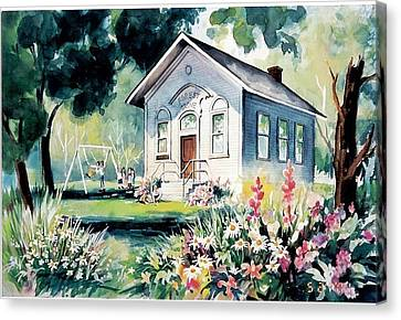 Forest Grove School House Canvas Print by Tamara Keiper