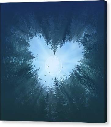 Surreal Landscape Canvas Print - Forest Heart 2 by Bekim Art