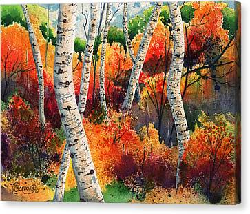 Forest In Color Canvas Print by Timithy L Gordon
