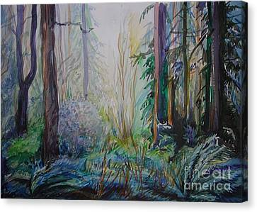 Canvas Print featuring the painting Forest In The Spring by Anna  Duyunova