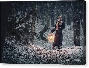 Forest Incubus Canvas Print by Gelner Tivadar