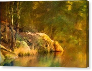 Forest Lake Impression Canvas Print by Lutz Baar