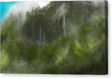 Forest Landscape 10-31-09 Canvas Print by David Lane