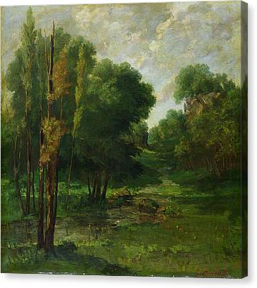 Forest Landscape Canvas Print by Gustave Courbet