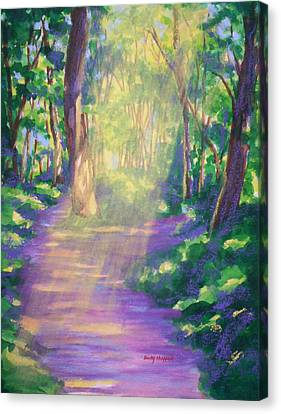 Forest Light Canvas Print by Becky Chappell