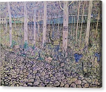 Autumn Scene Canvas Print - A Mans Depression by Matthew John