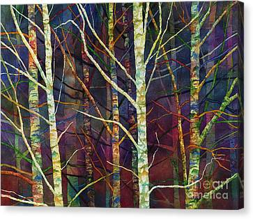 Canvas Print featuring the painting Forest Rhythm by Hailey E Herrera