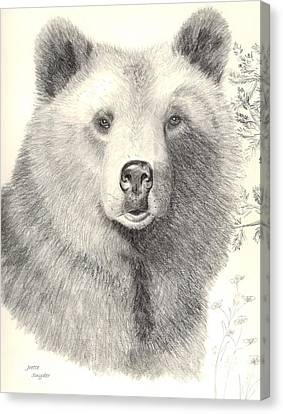 Forest Sentry Canvas Print by Joette Snyder