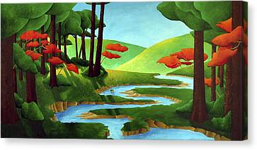 Forest Stream - Through The Forest Series Canvas Print by Richard Hoedl