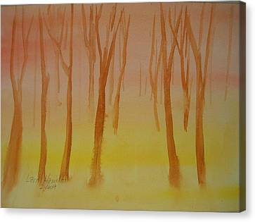 Forest Study Canvas Print by Larry Hamilton