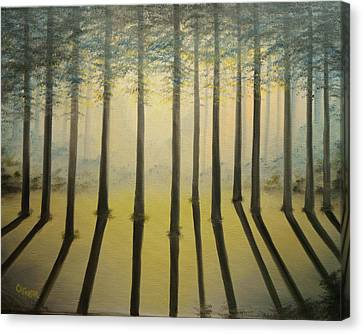 Forest Thru The Trees II Canvas Print by Chris Fraser