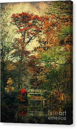 Forest Vintage Canvas Print by Angela Doelling AD DESIGN Photo and PhotoArt