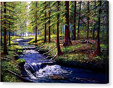 Forest Waters Canvas Print by David Lloyd Glover