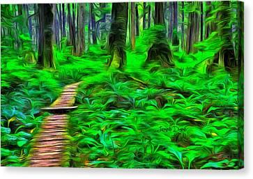Forest Way - Da Canvas Print by Leonardo Digenio