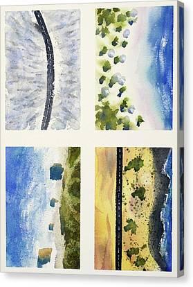 Forest X Beach X Desert Canvas Print by Max Good