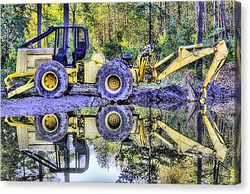 Forestry Work Canvas Print by JC Findley