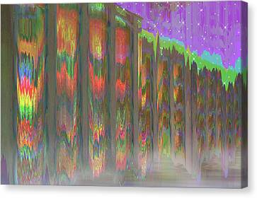 Canvas Print featuring the digital art Forests Of The Night by Wendy J St Christopher