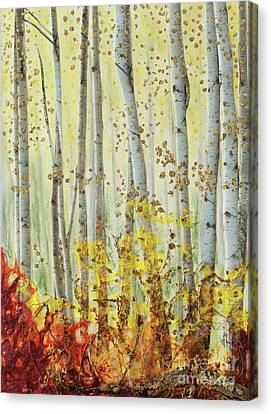 Forever Autumn Canvas Print by Stanza Widen