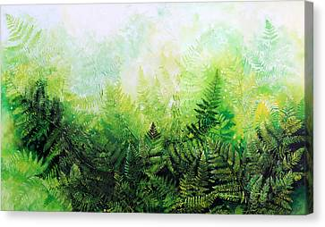 Forever Ferns Canvas Print by Hanne Lore Koehler