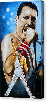 Canvas Print featuring the painting Forever Freddie Mercury by Al  Molina