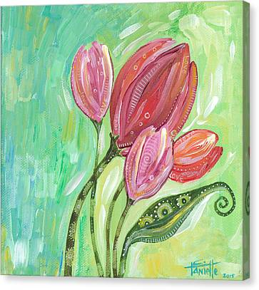 Forever In Bloom Canvas Print by Tanielle Childers