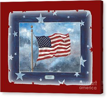Forever Old Glory  Canvas Print