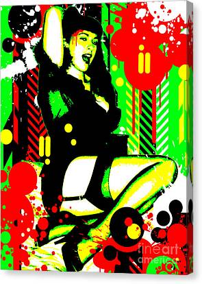 Seduction Canvas Print - Forever Pinup I by Chris Andruskiewicz