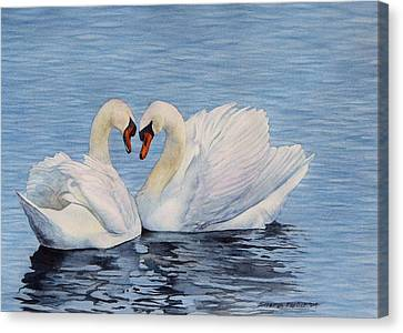 Forever Swans Canvas Print by Sharon Farber