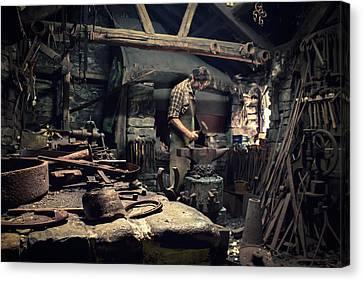 Forging Metal Canvas Print