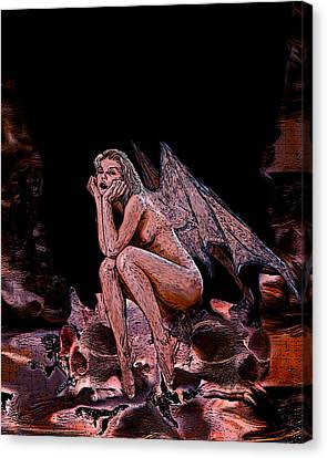 Forgotten Angel Canvas Print by Tbone Oliver