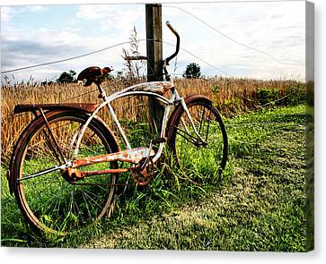 Forgotten Bicycle Canvas Print by Doug Hockman Photography