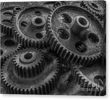 Forgotten Gears Canvas Print by ELDavis Photography