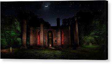 Canvas Print featuring the photograph Forgotten Gods by Mark Andrew Thomas