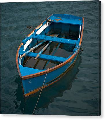Forgotten Little Blue Boat Canvas Print
