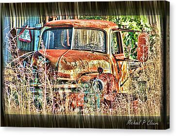 Forgotten Machine Canvas Print by Michael Cleere